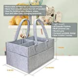 Baby Diaper Caddy - Includes Waterproof Changing