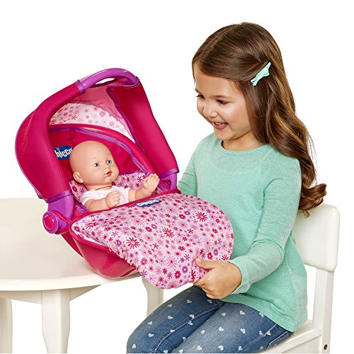 Chicco Travel Seat with Canopy for Baby Dolls, 1 Seat, Pink, Small, [Amazon Exclusive]