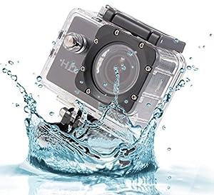 Logicom Mini Waterproof 1080p HD Action Camera, 2-Inch LCD Screen with Mounts