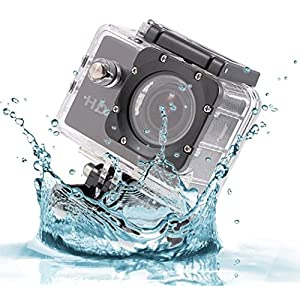 Logicom Mini Waterproof 1080p HD Action Camera, 2-Inch LCD Screen with Mounts