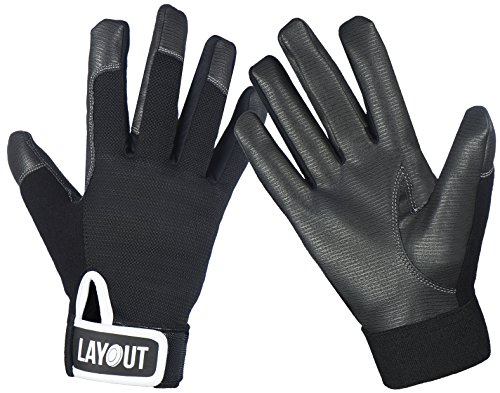Layout Ultimate Frisbee Gloves - Ultimate Grip and Friction to Enhance Your Game! (XS) ()