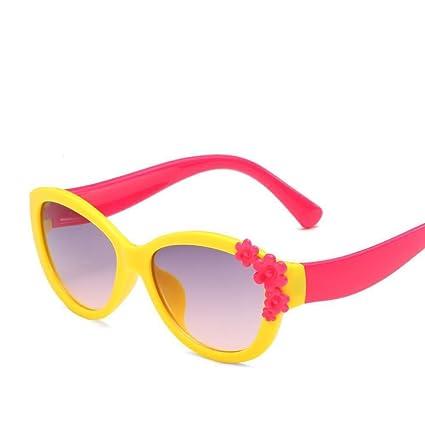 BiuTeFang Gafas de Sol Mujer Hombre Polarizadas Flores Pequeñas de Gafas de Sol Infantiles decoran Gafas