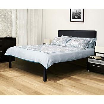 olee sleep heavy duty 18 inch platform 4000hb metal bed frame mattress foundation. Black Bedroom Furniture Sets. Home Design Ideas