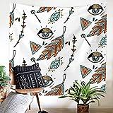 Weiliru Floral Medallion Tapestry Gold Indian Headboard Wall Hanging Home Decor Mandala Tapestry Wall Hanging Bohemian Wall Decor