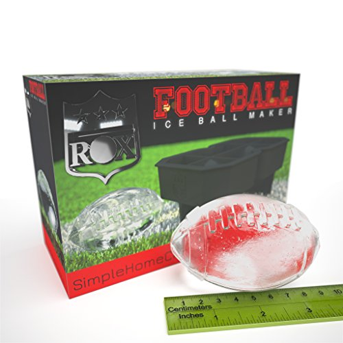 Rox Football Ice Cube Tray for Football Fans & Game Day, Large