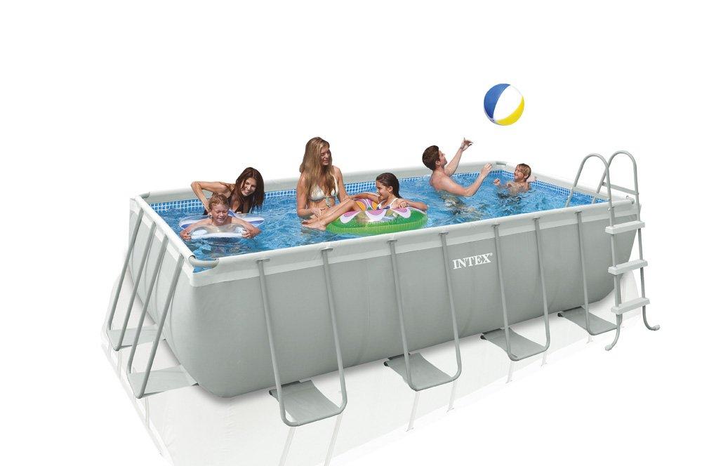 Intex 28350 Ultra Quadra mini Frame Pool Set, Kartuschenfilteranlage ...
