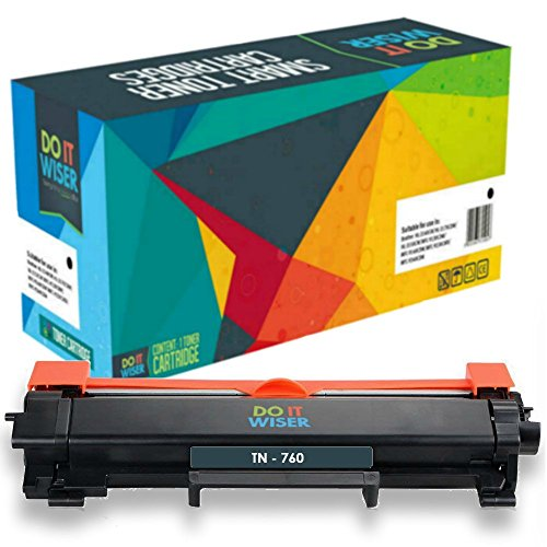 Do it Wiser Compatible for Brother TN760 TN-760 Toner for Brother MFC-l2710DW HL-L2370DW MFC-l2750DW ...