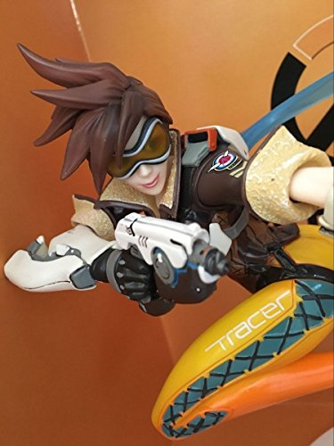 NEW Shooting Game Overwatch Tracer PVC Complete Figure Statue 3D Model