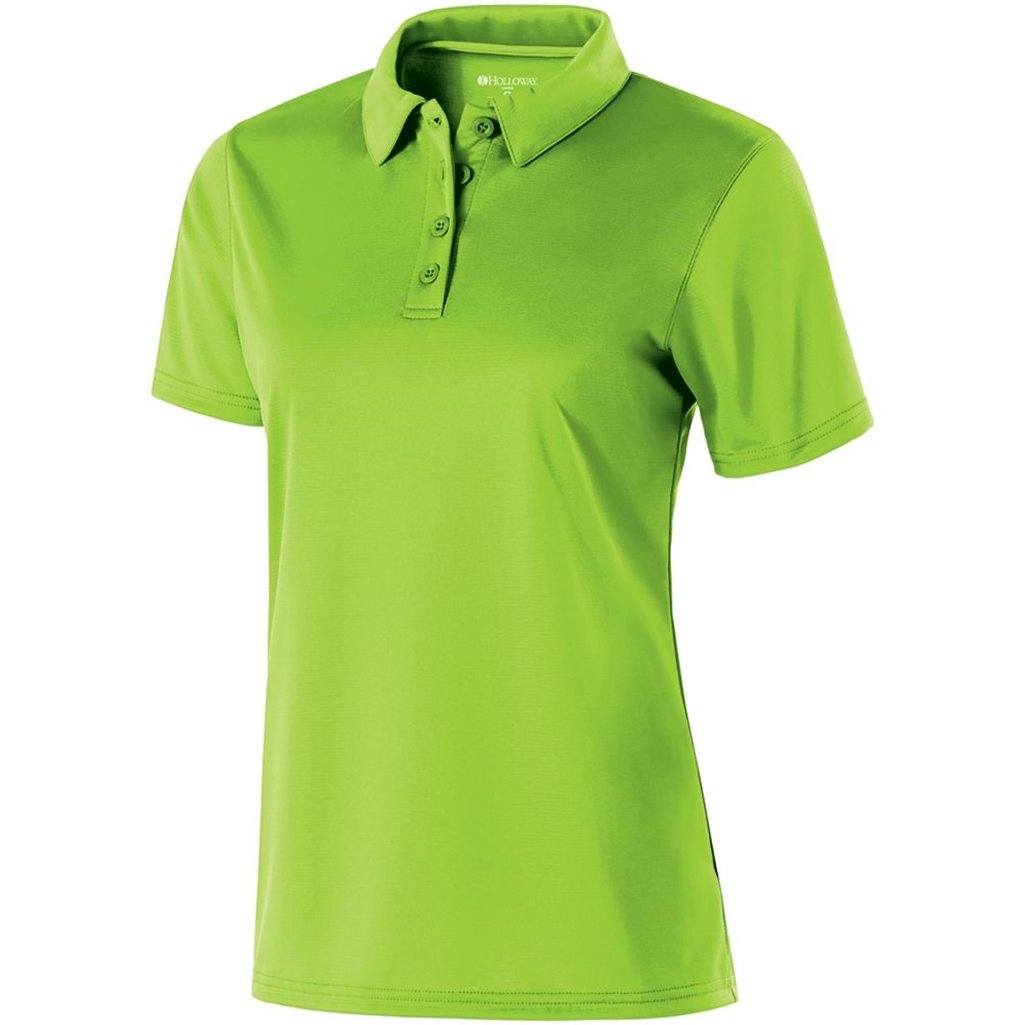 Holloway Ladies Dry Excel Shift Polo (XX-Large, Lime) by Holloway