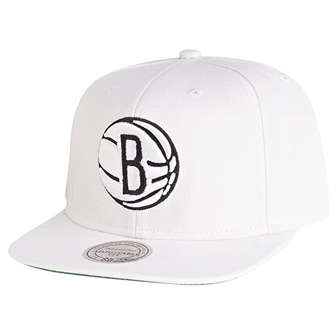 Mitchell   Ness - Gorra - NBA Brooklyn Nets Logo  Amazon.es  Ropa y ... 5f56168ad59