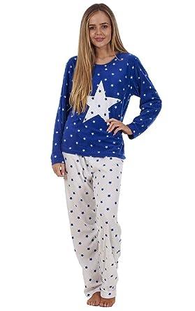 89a689c65 Ladies Gorgeous Winter Star Pyjama Set Warm Womens Nightwear PJ s ...