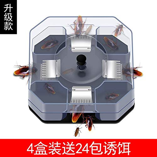 Cockroach Trap Fifth Upgrade Safe Efficient Anti Cockroaches Killer Plus Large Repeller No Pollute for Home Office Kitchen   24 Packets of