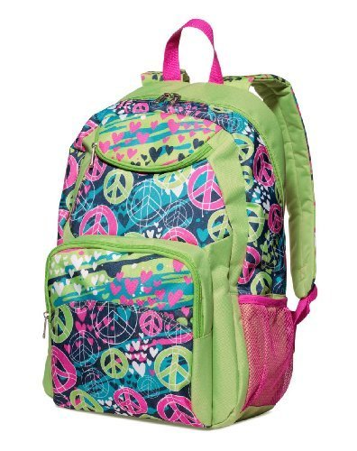 Three Cheers for Girls Splatter Peace Backpack ()