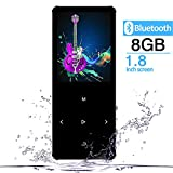 GREATLINK 8GB MP3 Player Bluetooth with Built-in Speaker Touch Buttons Metal Shell FM Radio & Voice Recorder, Sport MP 3 HiFi Music Player Portable Walkman,Supports up to 128GB for Sports,Black