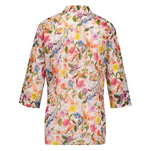 Dasongff Damen Langarmshirt Blumenmuster Blusen Übergröße