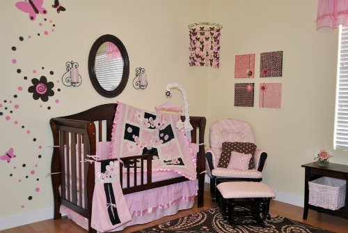 Amazon.com : DK Leigh Crib Bedding Nursery Set, Pink/Brown, 9 Piece  (Discontinued By Manufacturer) : Baby Crib Bedding Sets : Baby Photo Gallery