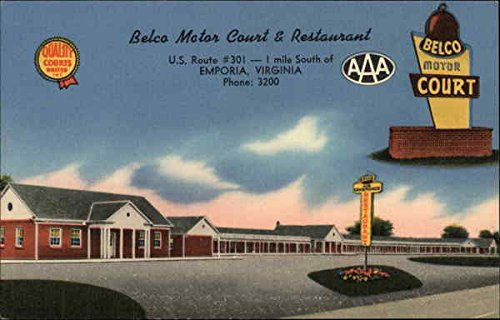 belco-motor-court-restaurant-emporia-virginia-original-vintage-postcard