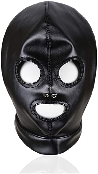 Unisex Lingerie Headgear Mask Hood Cosplay Role Play Costumes Adults Restraints