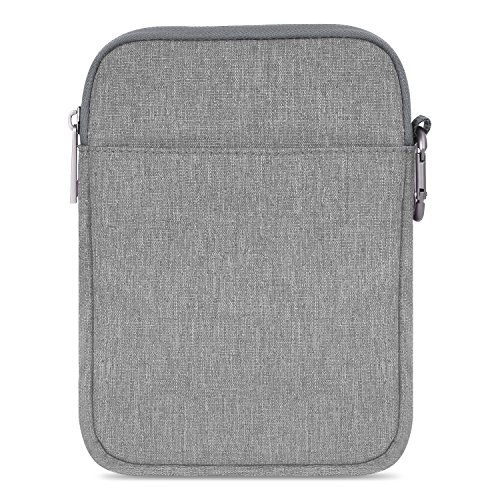 """MoKo 6 Inch Kindle Sleeve Case Fits for All-New Kindle 10th Generation 2019/Kindle Paperwhite 2018, Nylon Cover Pouch Bag for Kindle Voyage/Kindle (8th Gen, 2016)/Kindle Oasis 6"""" E-Reader, Light Gray"""