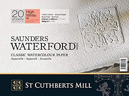 Amazon high white saunders waterford block 300gsm 228 x 304mm high white saunders waterford block 300gsm 228 x 304mm 9quot x 12quot colourmoves