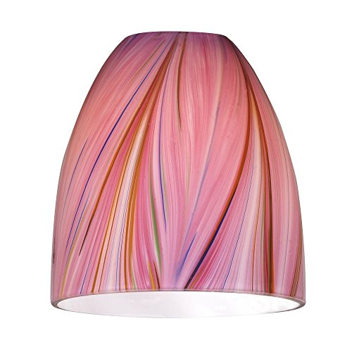 Design Classics Pink Bell Art Glass Shade- Lipless with 1...