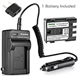 Kastar NB-2L NB-2LH Battery and Charger for Canon EOS Rebel XT Xti Digital Cameras