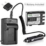 Kastar Battery 1 Pack and Charger for Canon NB-2L, NB2L, NB-2LH, NB2LH, BP-2LH, BP-2L5 and Canon DVD Camcorders DC310 DC320 DC330 DC410 DC420 Cameras