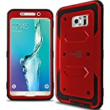 Galaxy S6 Edge+ Plus Case, CoverON® [Tank Series] Tough Hybrid Hard Armor Cover Protective Phone Case For Samsung Galaxy S6 Edge+ Plus - Red & Black