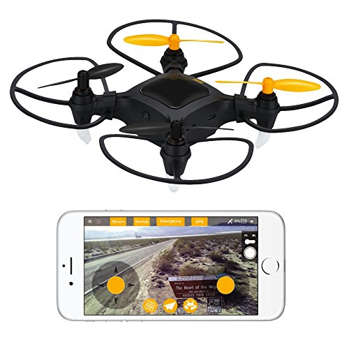 1 Plus Nano Drone with 1080p HD Camera and GPS - Small WiFi FPV Quadcopter Drone w/ Live Real Time Video - 360º Camera Drone For Beginners & Pros
