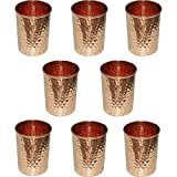 Zap Impex Drinking vessels hammered copper glass 100% pure copper tumbler moscow mule tumbler set of 8