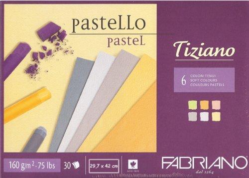 Tiziano Hochwertiges Pastellpapier farbig Fabriano Din A3 30 Blatt 160gr.