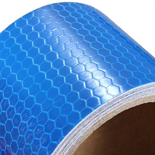 QOJA 3mx50mm blue reflective safety warning conspicuity tape film