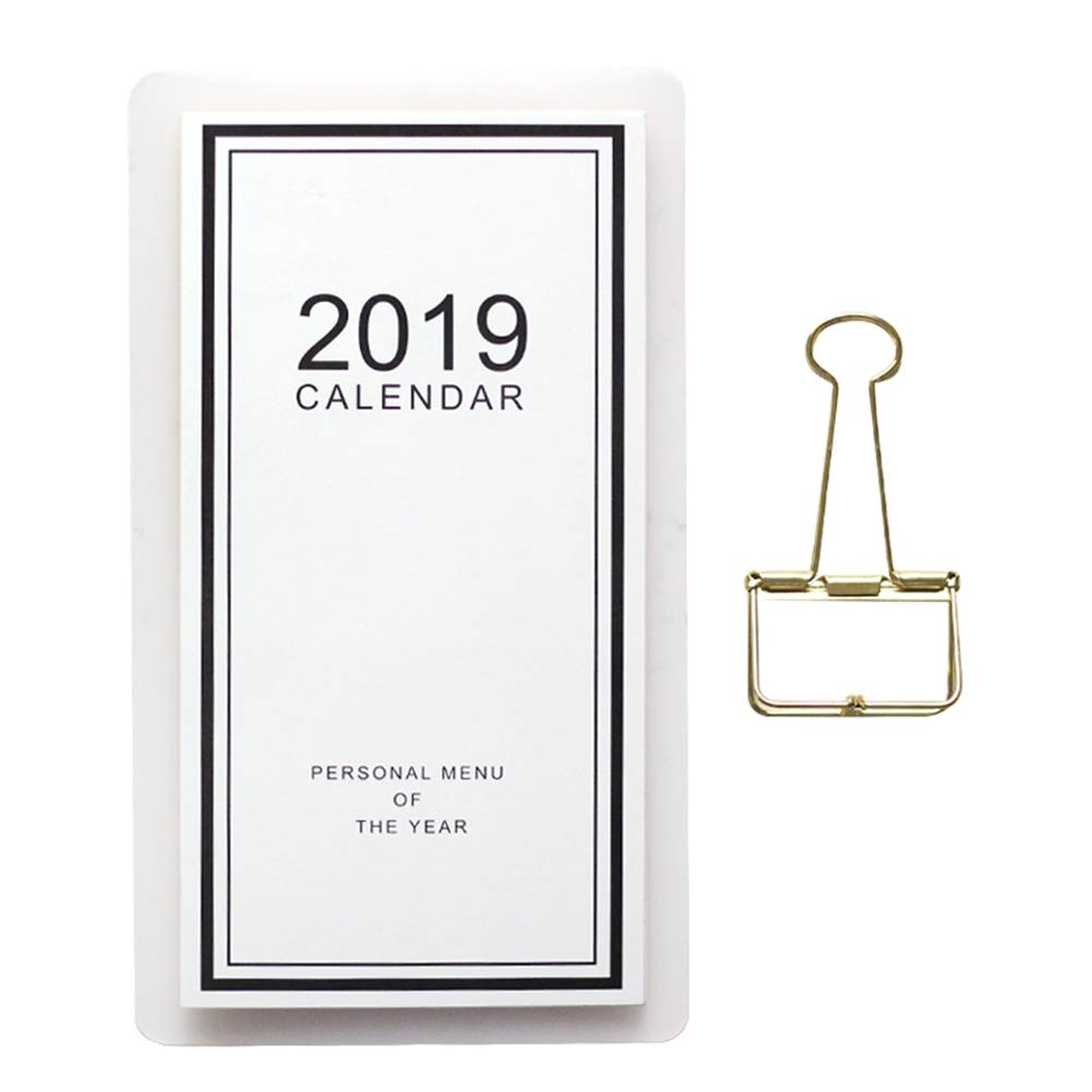 Whthteey Wall-Mounted Desk Calendars Writable Paper Calendar July 2018-December 2019 for Home Office School