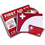 2-in-1 All-Purpose First Aid Kit (115 Pieces) + Bonus Ultralight Wilderness Hiking 1st Aid kit – EMT Approved, Hospital Grade Medical Supplies – Great for hiking, biking, running, hunting and more!