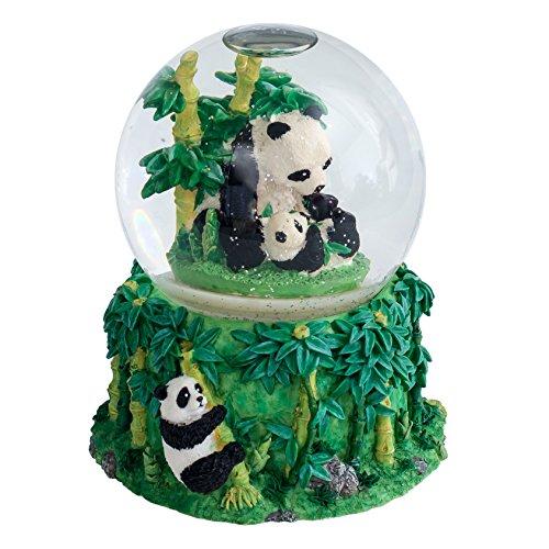 Cadona International, Inc Mommy Panda and Baby Cub 100MM Water Globe Plays Tune Born ()