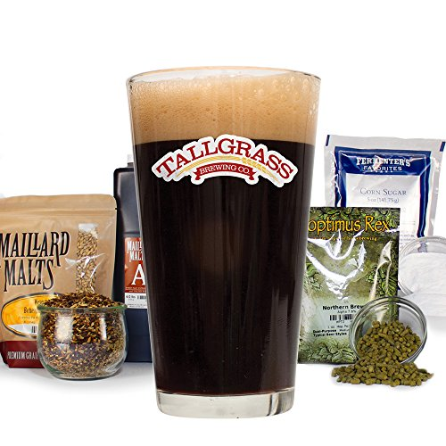 Tallgrass Buffalo Sweat Stout Pro Series - HomeBrewing Beer Making Recipe Kit - Partial Mash, Dark Ale 5 Gallons Ingredients