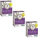Traditional Medicinals Smooth Move Herbal Tea, Organic, Stimulant Laxative, 16ct, (pack of 3)
