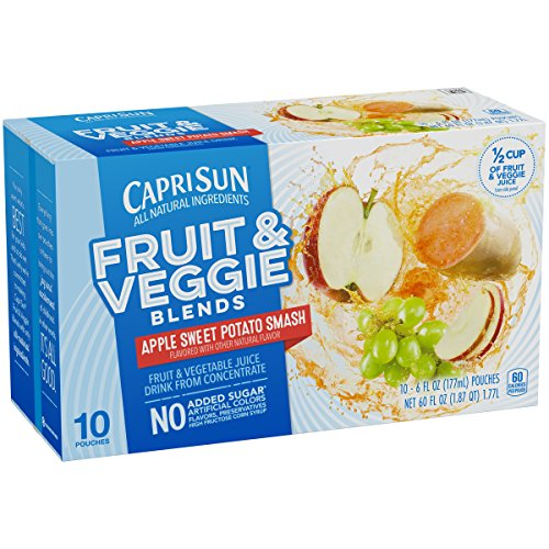 Capri Sun Fruit & Veggie Blends Apple Sweet Potato Smash Juice Drink, 60 Ounce (Pack of ()