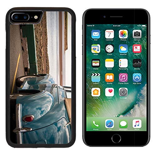 Liili iPhone 7 plus Case iPhone 8 plus Case Silicone Bumper Shockproof Anti-Scratch Resistant Tempered Glass Hard Cover Classic Car at the Shoreline IMAGE ID 14978418 (Shoreline Womens Cover)