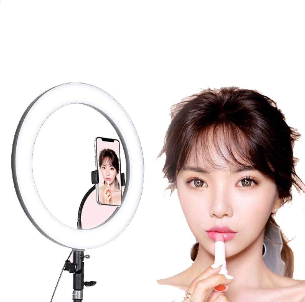 BIXINYAAN LED Ring Light for Live Streaming Mini LED Camera Light with Cell Phone LED Lamp with 3 Light Modes