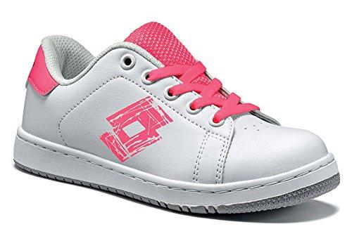 Lotto - Zapatillas de tenis de Material Sintético para niño Weiß (WHITE/PINK FLUO)