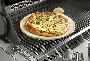 Pizzastein Für Gasgrill : Napoleon pro pizzastein mit schneideroller amazon garten