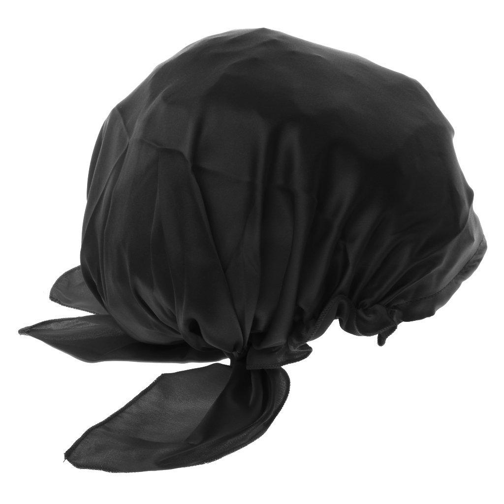 Gazechimp Femme Bonnet de Nuit Charlotte en 100% Soie Chapeau de Sommeil  Cheveux Sec Rapide ... 17ea15feef2