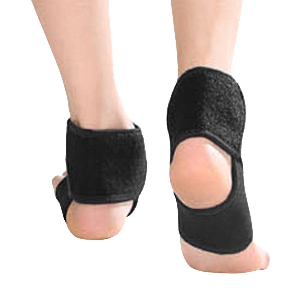 Kids Girls Boys Adjustable Compression Ankle Support Outdoor Sports Breathable Running Cycling Skating Dance Ankle Brace Protector Guard, 1 Pair, Black by Fakeface (Image #2)