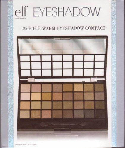 e.l.f. 32 Piece Eyeshadow Palette, Warm V3, 0.99 Ounce