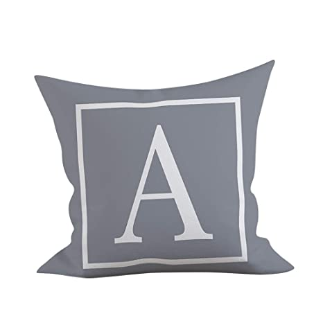 Sunshinehomely Pillow Cover Letter Print Pillow Case Throw ...