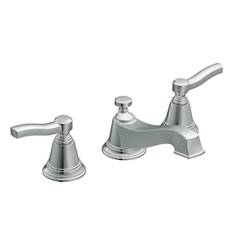 Moen TS6205 Rothbury Two-Handle Low Arc Bathroom Faucet without ...