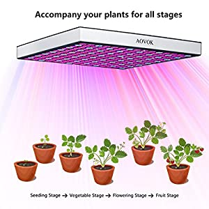 AOVOK LED Grow Light Grow Lamp bulbs Plant Growing Light Panel Red Blue full Spectrum for Indoor Plants Hydropnics Seedlings Starting Herbs Greenhouse Succulents Flower