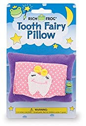 Rich Frog Girl Tooth Tooth Fairy Pillow and Tooth Keepsake, Pink - 4\
