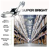 60W Motion Activated LED Garage Light with Remote